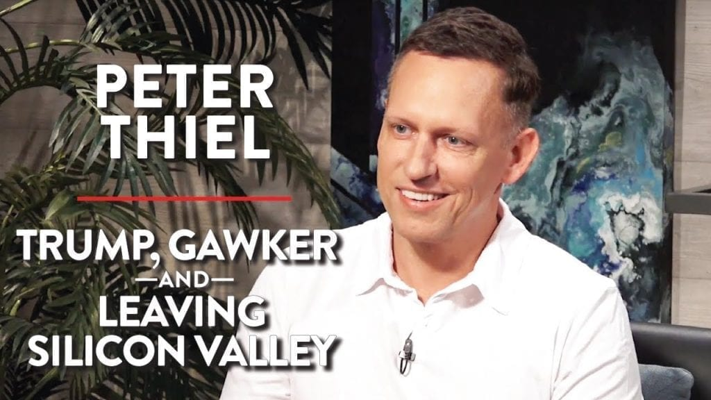 Trump, Gawker and Leaving Silicon Valley by Peter Thiel